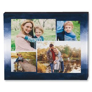 Gradiant Blue Collage Photo Canvas