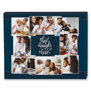Live Laugh Love Collage Canvas Photo Print