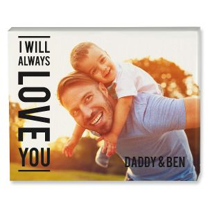 Always Love Name Photo Canvas