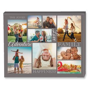 Adventure Collage Canvas Photo Print
