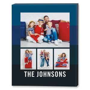 Family Blue Photo Canvas