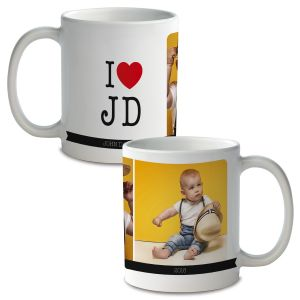 I Love Ceramic Photo Mug