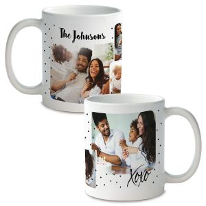 Family Hearts Personalized Photo Mug