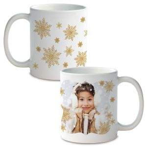 Snowflake Ceramic Photo Mug
