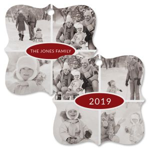 Year Multi-Personalized Photo Metal Ornament