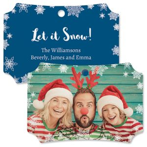 Let It Snow Photo Ornament – Deluxe