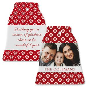Holly Personalized Photo Ornament – Bell