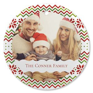 Sweater Personalized Photo Ornament - Glass Round