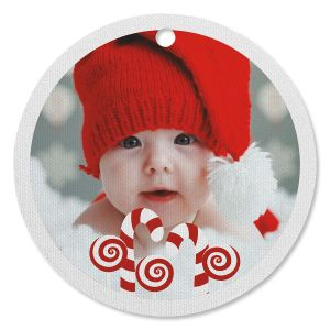 Candy Photo Circle Ornament