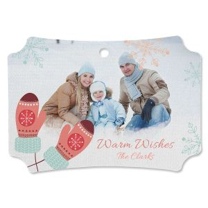 Mittens Photo Ornament - Deluxe