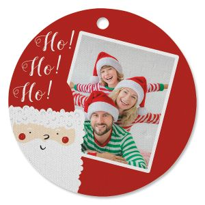 Santa Photo Ornament - Circle