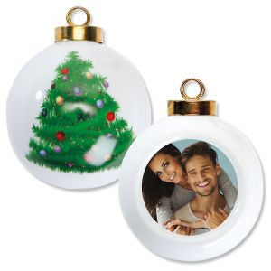 Full Photo Ornament - Round Tree