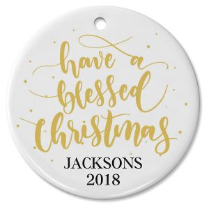 Personalized Blessed Christmas Ornament