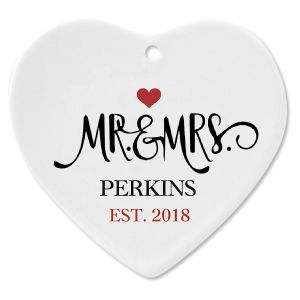 Personalized Mr. and Mrs. Established Christmas Ornament