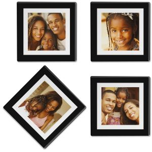 Duel Frame Personalized Photo Coasters
