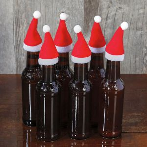 Santa Hat Bottle Decoration