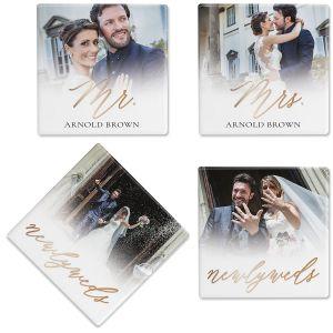 Newlyweds Photo Coasters