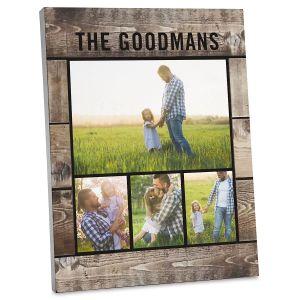 Wood Slats Personalized Photo Plaque