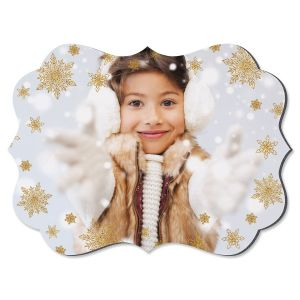 Glitter Snowflake Benelux Personalized Photo Plaque
