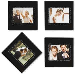 To Have and to Hold Personalized Photo Coasters