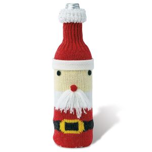 Knit Santa Bottle Cover