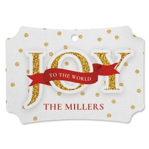 Glitter Joy Personalized Ornament Deluxe