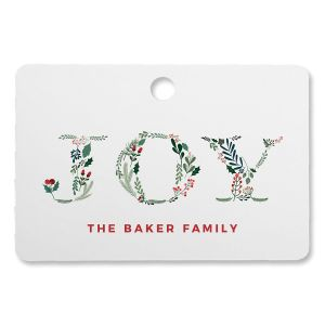 Botanical Joy Personalized Rectangle Ornament