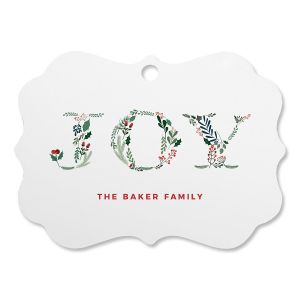 Botanical Joy Personalized Ornament