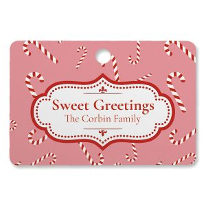 Sweet Greetings Personalized Rectangle Ornament