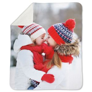 Sherpa Full Personalized Photo Throw