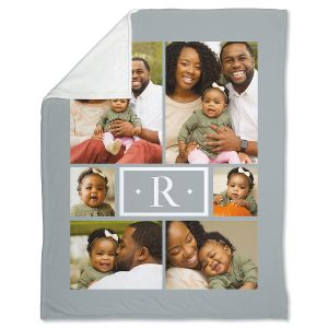 Fleece Monogram Personalized Photo Throw