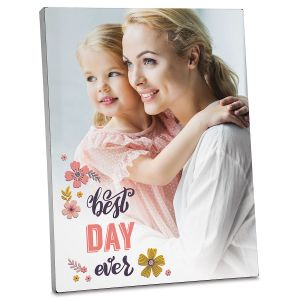 Floral Personalized Photo Plaque