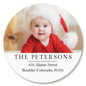 Classic Round Photo Personalized Address Labels