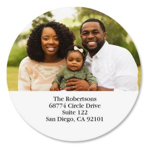 Round Photo Personalized Address Labels