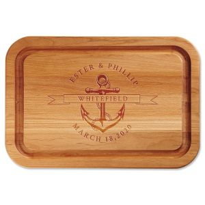 Anchor Engraved Wood Cutting Board