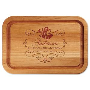 Wedding Bells Engraved Wood Cutting Board