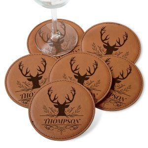 Personalized Deer Coaster Set