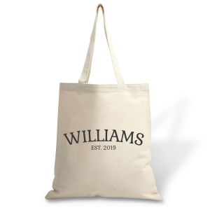 Personalized Family Established Canvas Tote