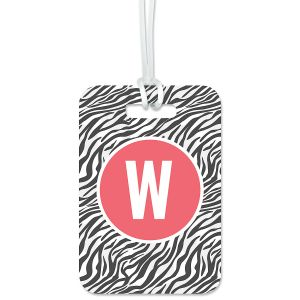 Zebra Print Personalized Luggage Tag