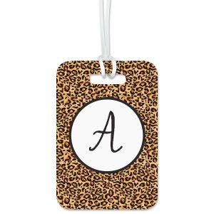 Cheetah Print Personalized Luggage Tag