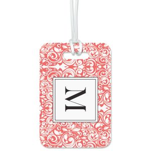 Rose Damask Personalized Luggage Tag
