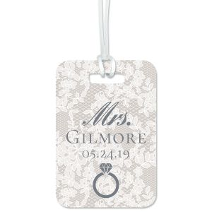 Chantilly Lace Personalized Luggage Tag