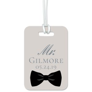 Bow Tie Personalized Luggage Tag
