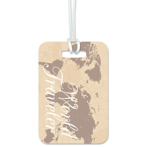 World Traveler Personalized Luggage Tag