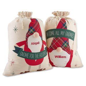 Gnome Personalized Gift Sacks