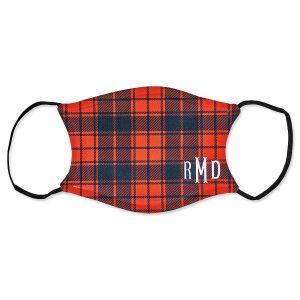 Adult Personalized Buffalo Plaid Mask
