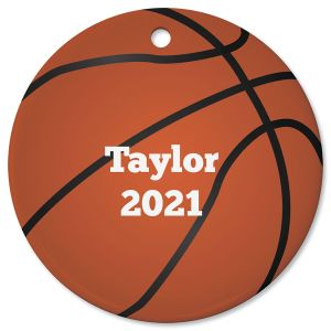 Personalized Ceramic Basketball Ornament