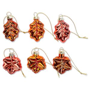 Fall Leaves Glass Ornaments