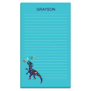 Personalized Dinosaur Notepad