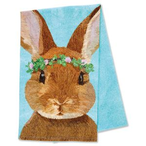 Clover Bunny Easter Kitchen Towel